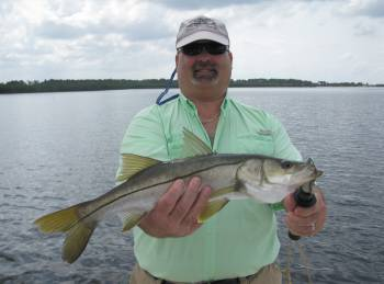 man with snook