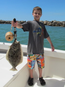 Tampa Fishing for a Flounder Dinner